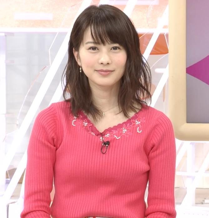 高見侑里 ピンクのニットおっぱい♡キャプ・エロ画像4