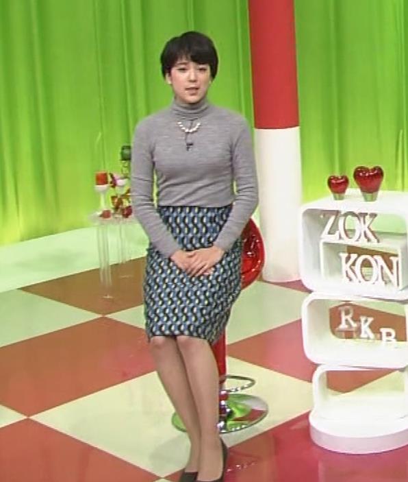 武田伊央アナ ショートカットが可愛い地方女子アナのニットおっぱいキャプ・エロ画像3
