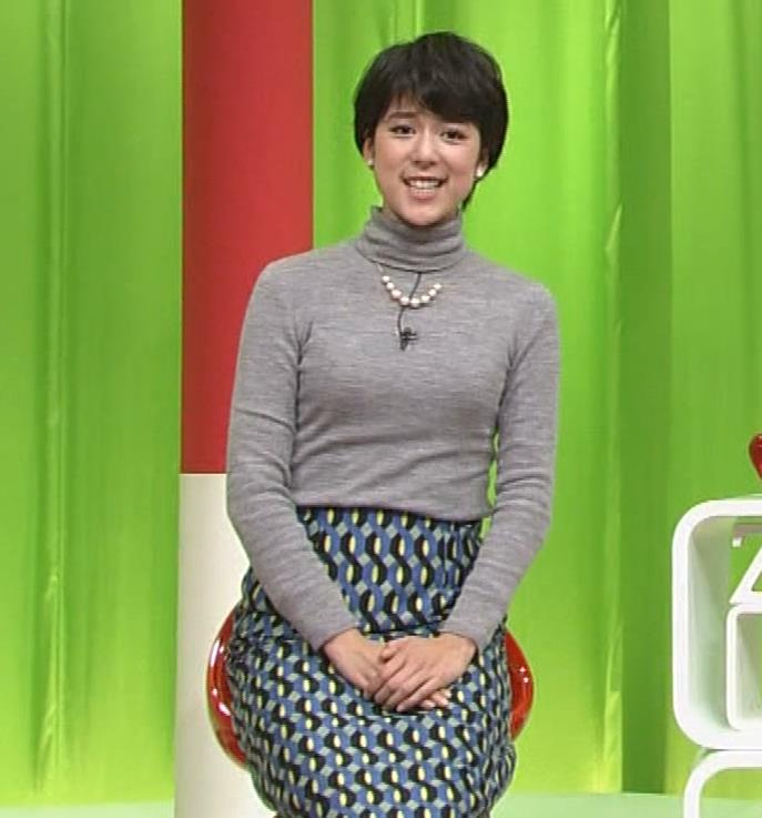 武田伊央アナ ショートカットが可愛い地方女子アナのニットおっぱいキャプ・エロ画像4