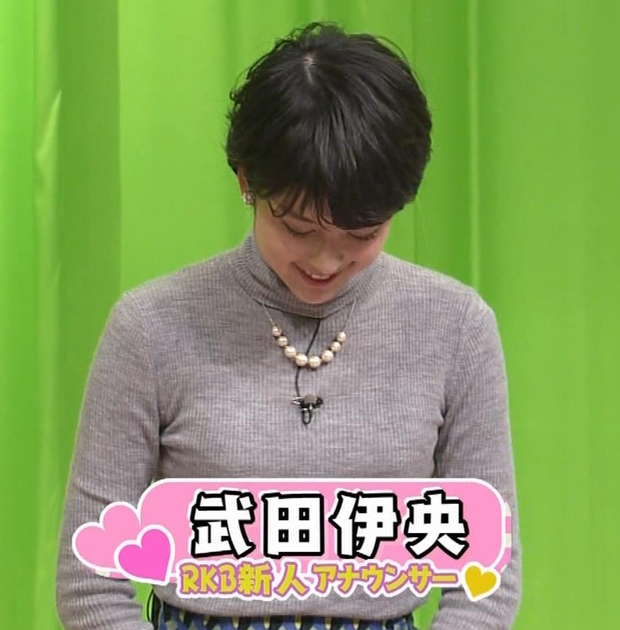 武田伊央アナ ショートカットが可愛い地方女子アナのニットおっぱいキャプ・エロ画像5