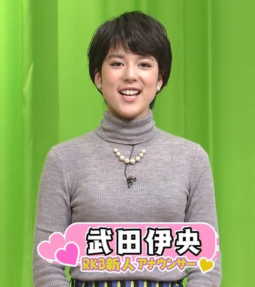 武田伊央アナ ショートカットが可愛い地方女子アナのニットおっぱいキャプ・エロ画像6