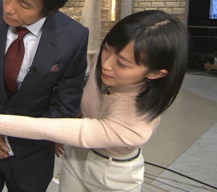竹内由恵アナ 終始ニットおっぱいがエロかったよ!キャプ・エロ画像11