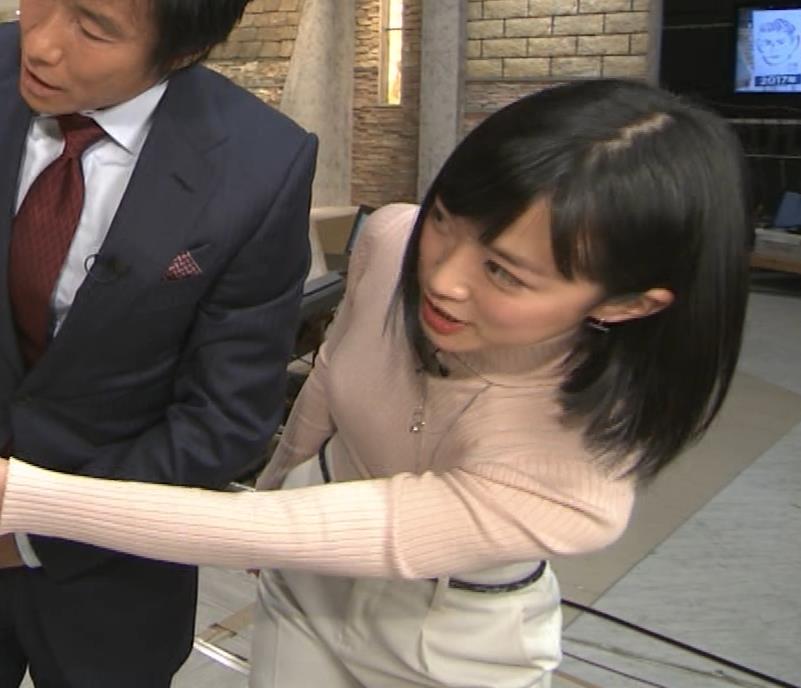 竹内由恵アナ 終始ニットおっぱいがエロかったよ!キャプ・エロ画像12