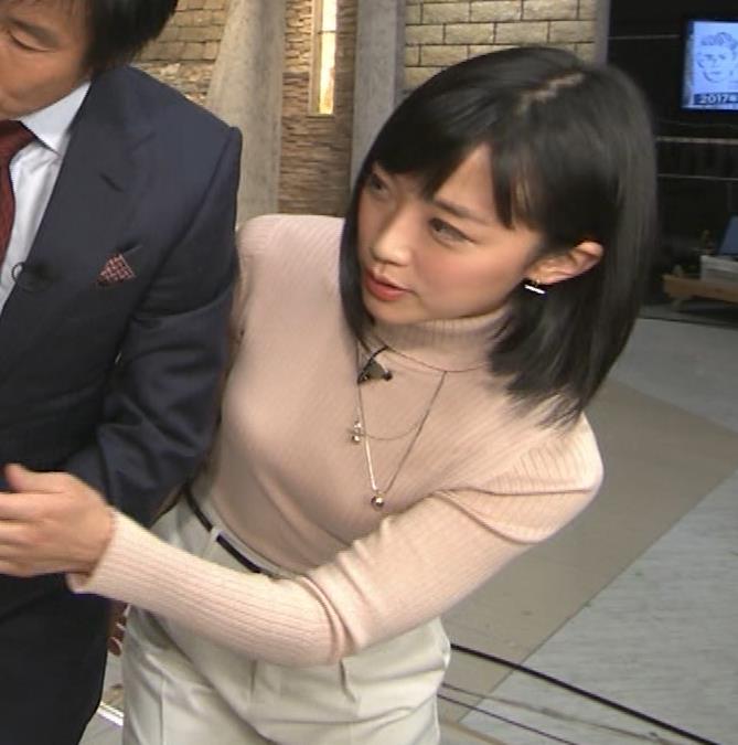 竹内由恵アナ 終始ニットおっぱいがエロかったよ!キャプ・エロ画像9