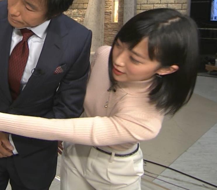 竹内由恵アナ 終始ニットおっぱいがエロかったよ!キャプ・エロ画像10