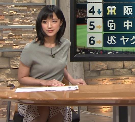 竹内由恵アナ ニット微乳、でもエロいキャプ・エロ画像10