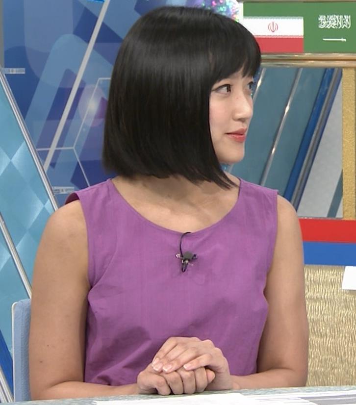 竹内由恵アナ 紫のノースリーブ (やべっちF.C)キャプ・エロ画像3