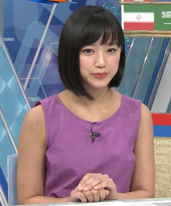 竹内由恵アナ 紫のノースリーブ (やべっちF.C)キャプ・エロ画像4