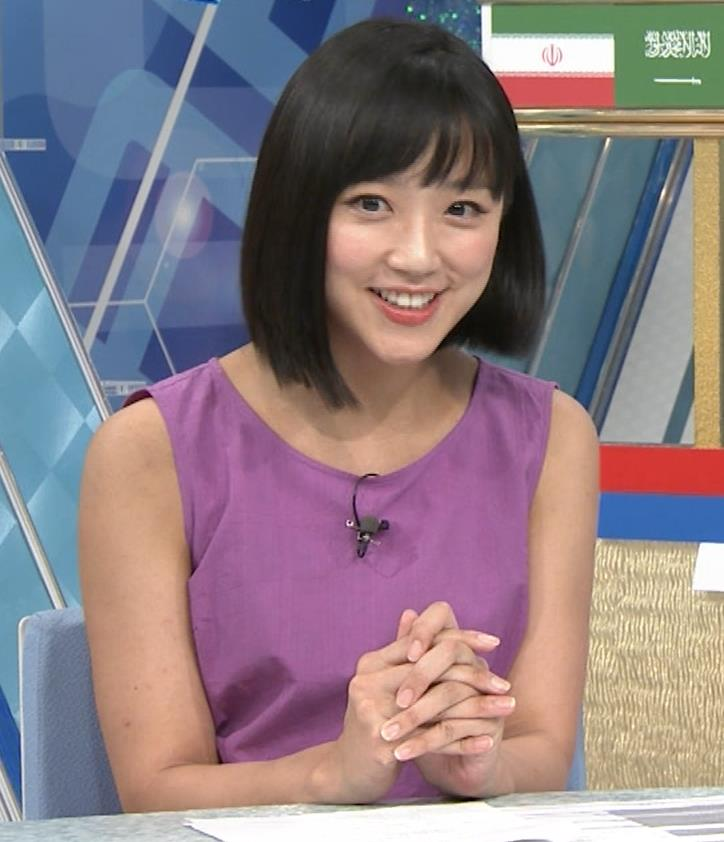 竹内由恵アナ 紫のノースリーブ (やべっちF.C)キャプ・エロ画像5