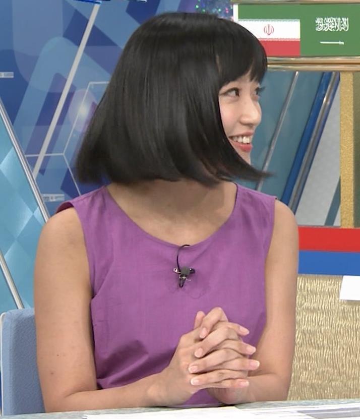 竹内由恵アナ 紫のノースリーブ (やべっちF.C)キャプ・エロ画像6