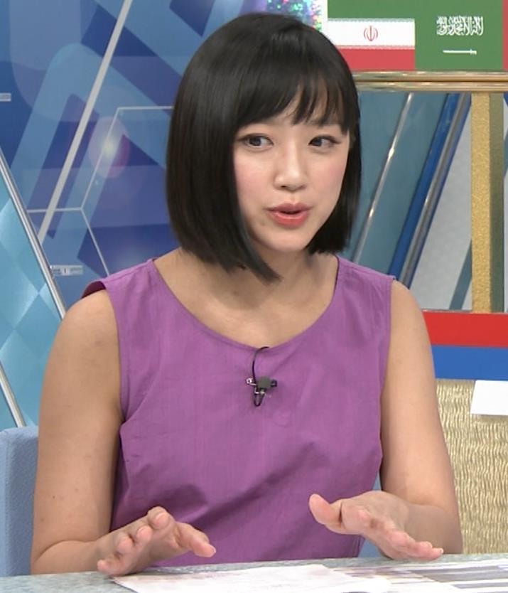 竹内由恵アナ 紫のノースリーブ (やべっちF.C)キャプ・エロ画像7