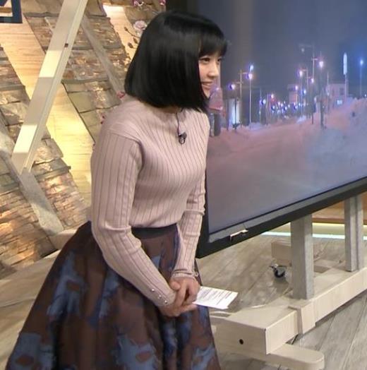竹内由恵アナ エロいニットおっぱいキャプ画像(エロ・アイコラ画像)