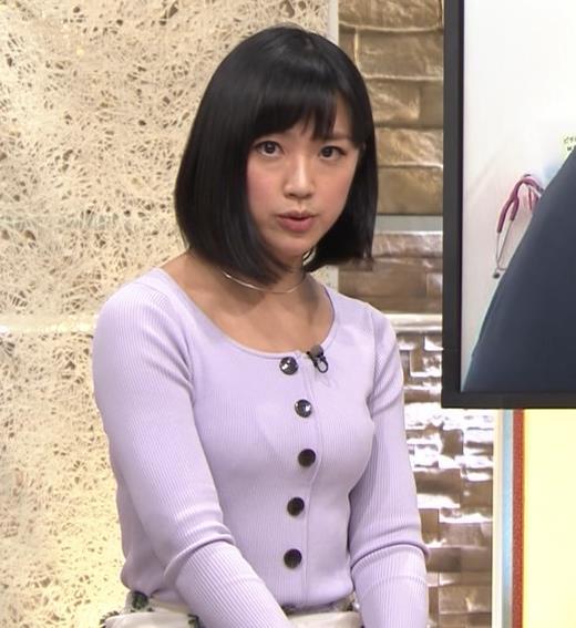 竹内由恵アナ 薄着でのふっくらおっぱいキャプ・エロ画像9