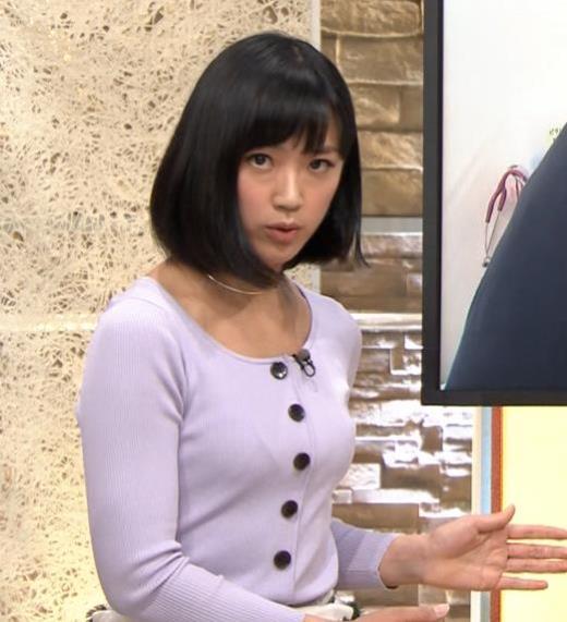 竹内由恵 薄着でのふっくらおっぱいキャプ画像(エロ・アイコラ画像)