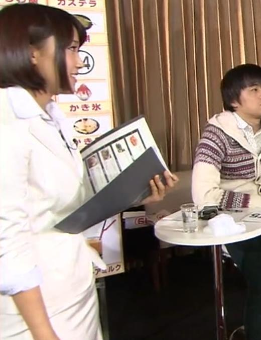 竹内由恵アナ 若いころのプリケツ!パンツ透けGIF動画キャプ・エロ画像