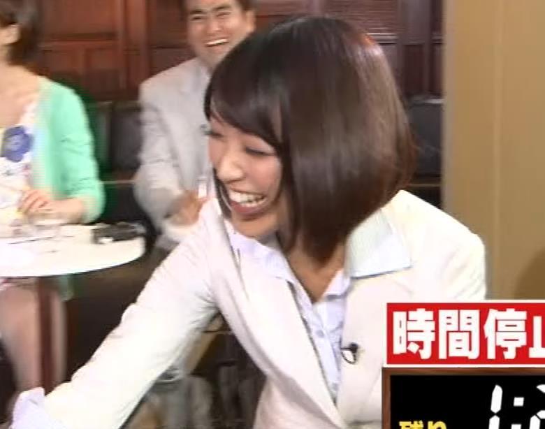 竹内由恵アナ 若いころのプリケツ!パンツ透けGIF動画キャプ・エロ画像14