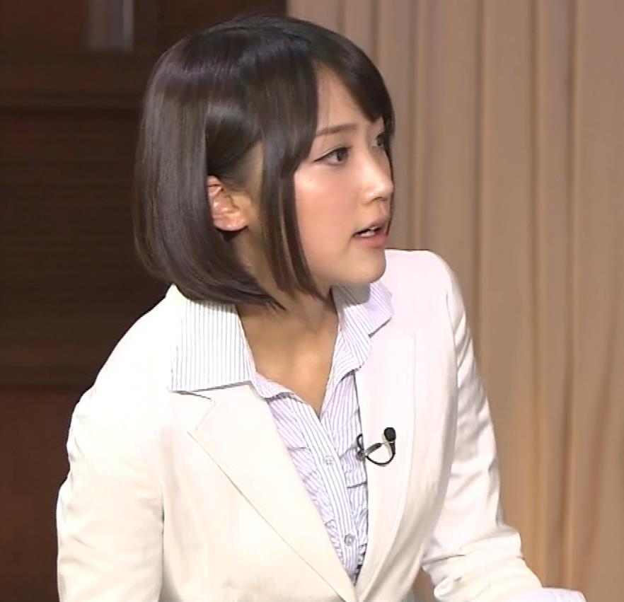 竹内由恵アナ 若いころのプリケツ!パンツ透けGIF動画キャプ・エロ画像15