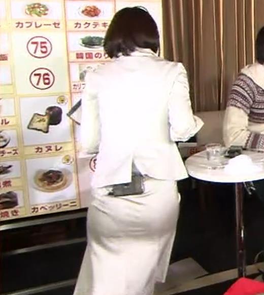 竹内由恵アナ 若いころのプリケツ!パンツ透けGIF動画キャプ・エロ画像7