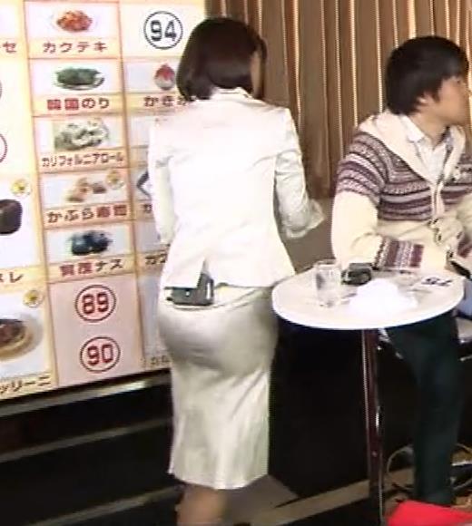 竹内由恵アナ 若いころのプリケツ!パンツ透けGIF動画キャプ・エロ画像8