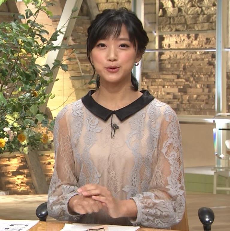竹内由恵アナ 透け透け衣装キャプ・エロ画像