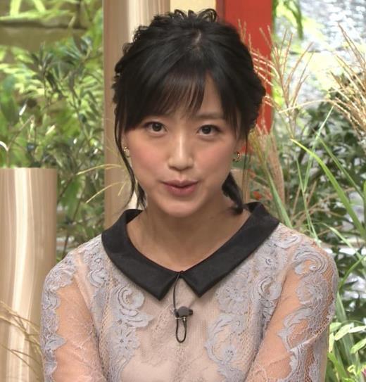 竹内由恵アナ 透け透け衣装キャプ画像(エロ・アイコラ画像)