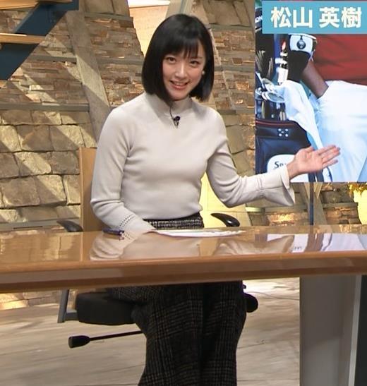竹内由恵アナ ニット微乳…キャプ・エロ画像