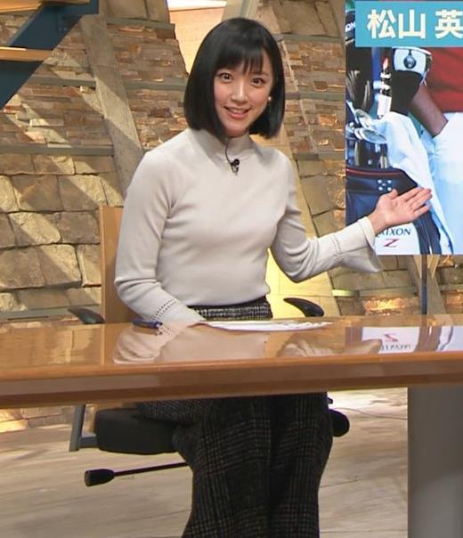 竹内由恵アナ ニット微乳…キャプ・エロ画像3
