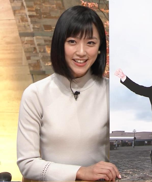 竹内由恵アナ ニット微乳…キャプ・エロ画像4