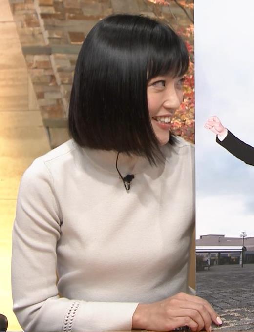 竹内由恵アナ ニット微乳…キャプ・エロ画像5