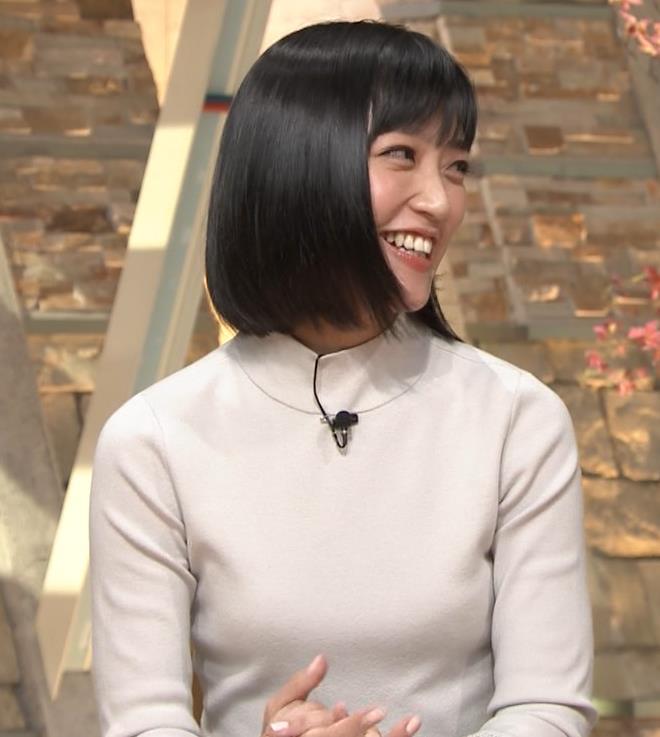 竹内由恵アナ ニット微乳…キャプ・エロ画像9