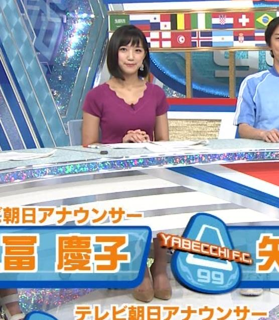 竹内由恵アナ このニット乳はエロいねキャプ・エロ画像