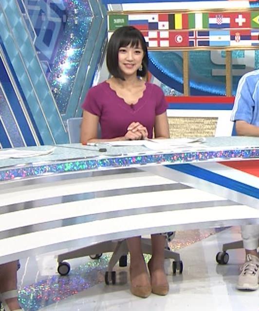 竹内由恵アナ このニット乳はエロいねキャプ・エロ画像2