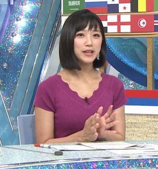 竹内由恵アナ このニット乳はエロいねキャプ・エロ画像3