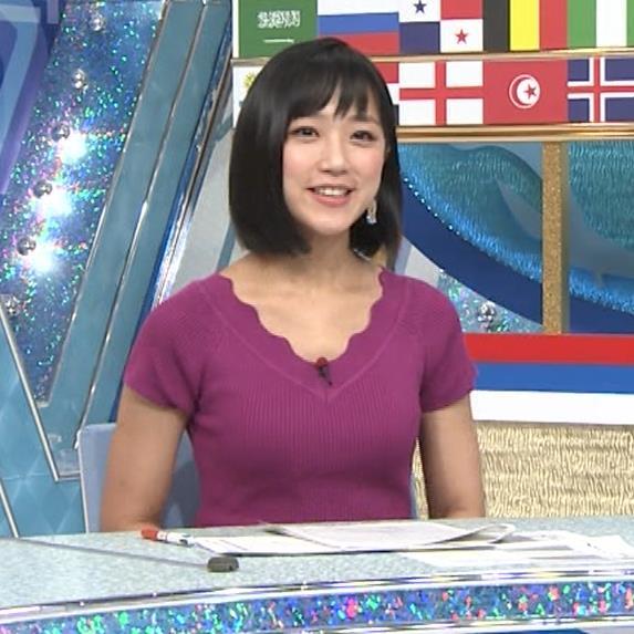 竹内由恵アナ このニット乳はエロいねキャプ・エロ画像4