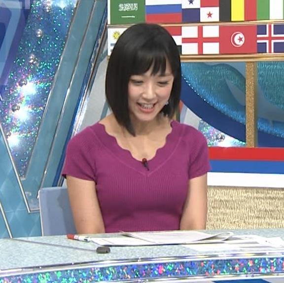 竹内由恵アナ このニット乳はエロいねキャプ・エロ画像5