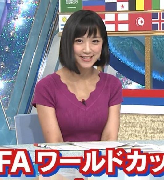 竹内由恵アナ このニット乳はエロいねキャプ・エロ画像6