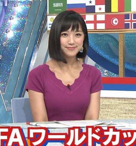 竹内由恵アナ このニット乳はエロいねキャプ・エロ画像7