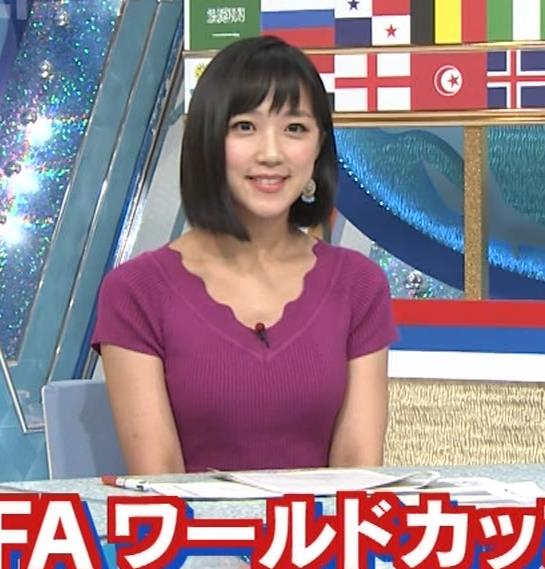 竹内由恵アナ このニット乳はエロいねキャプ・エロ画像8