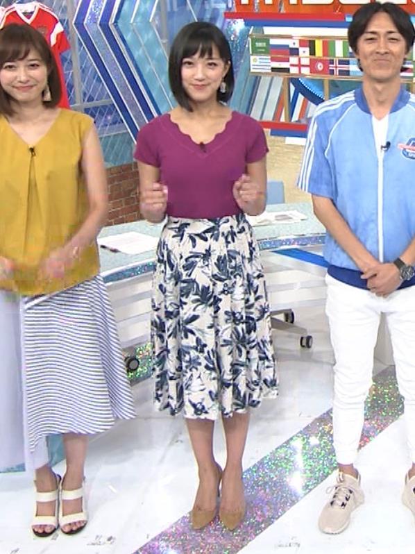 竹内由恵アナ このニット乳はエロいねキャプ・エロ画像10