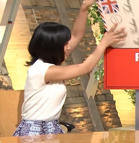 竹内由恵アナ ニット横乳♡♡キャプ・エロ画像