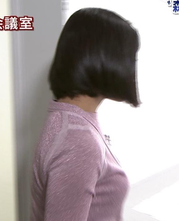 竹内由恵アナ ツンとした横乳!キャプ・エロ画像2