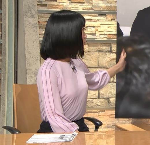 竹内由恵アナ パツパツに張ったおっぱいキャプ・エロ画像2