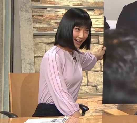 竹内由恵アナ パツパツに張ったおっぱいキャプ・エロ画像4