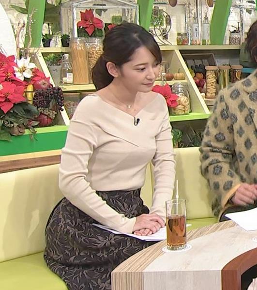 竹崎由佳アナ ブラ紐チラ!!キャプ・エロ画像