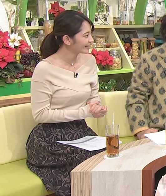 竹崎由佳アナ ブラ紐チラ!!キャプ・エロ画像2