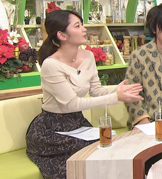 竹崎由佳アナ ブラ紐チラ!!キャプ・エロ画像3