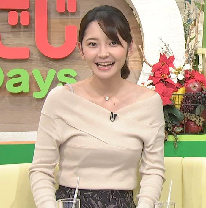 竹崎由佳アナ ブラ紐チラ!!キャプ・エロ画像5