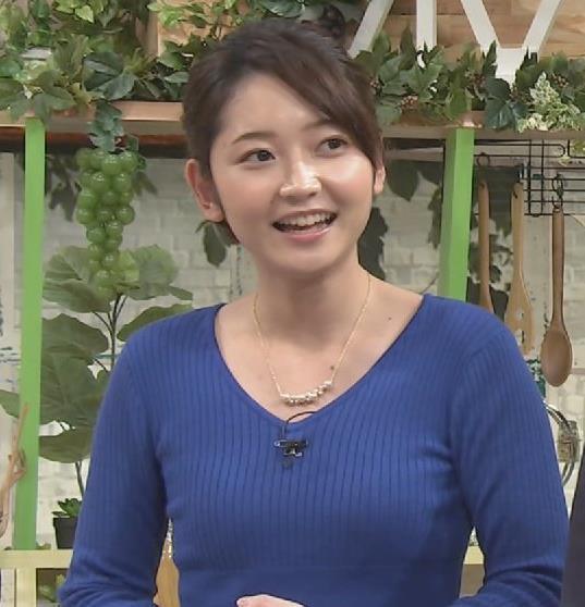 竹﨑由佳アナ ニットおっぱいがクッキリ!キャプ・エロ画像3