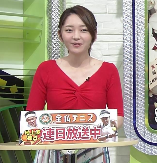 竹崎由佳アナ おっぱいがエロい衣装キャプ・エロ画像2