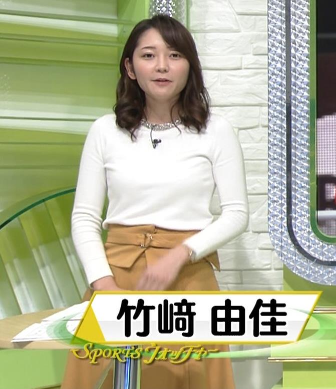 竹崎由佳アナ キャミソール透けキャプ・エロ画像2